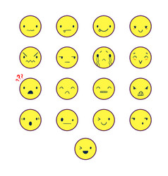 Emoticons round color 2 vector