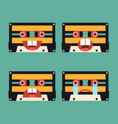 emotion icon tape cassette flat design vector image
