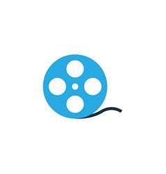 film reel colorful icon symbol premium quality vector image