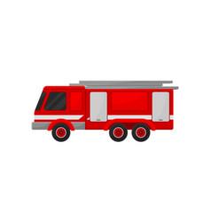 Firefighting emergency vehicle with telescopic vector