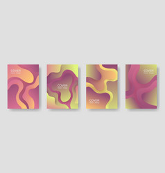 gradient fluid shapes abstract covers collection vector image