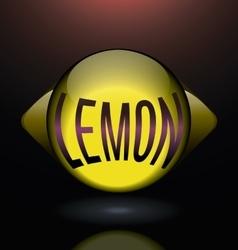 Horizontal glass lemon purple text logo vector