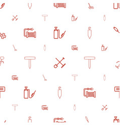 Hose icons pattern seamless white background vector