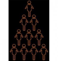 human pyramid vector image