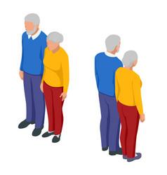 isometric senior couple seniors isolated on white vector image