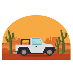 Jeep car vehicle transport icon vector