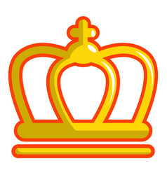 King crown icon cartoon style vector