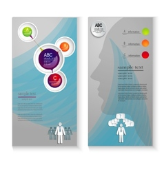 Layout leaflets with elements infographics vector