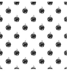 Magic cauldron pattern seamless vector