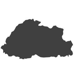 Map of bhutan vector