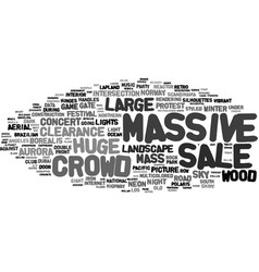Massive word cloud concept vector