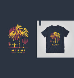 miami florida t-shirt design poster vector image
