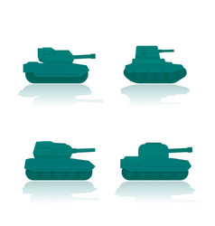 military tanks combat armoured fighting vehicles vector image