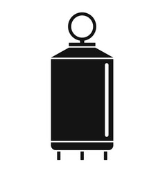 Milk factory cistern icon simple style vector