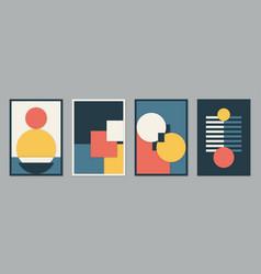 Modern bauhaus 3d design set background vector