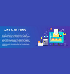 modern flat gradient mail marketing concept vector image