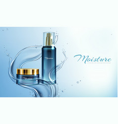 moisturizing cream lotion in water vector image