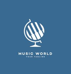 music world logo vector image