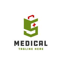 natural health modern logo vector image