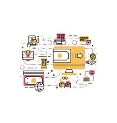 online payment vector image