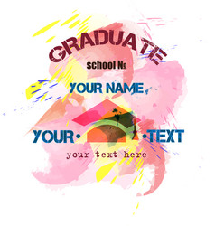 Pink print to prom or graduate vector