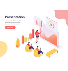 presentation technology concept isometric design vector image