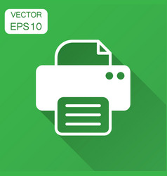 printer icon with long shadow business concept vector image