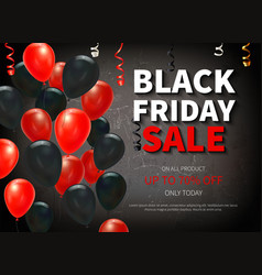 realistic black friday background vector image