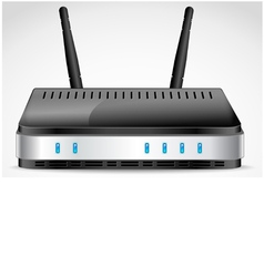 Realistic Wi-Fi Router vector