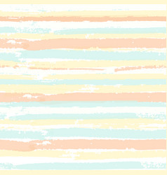 seamless pattern with brush painted stripes vector image