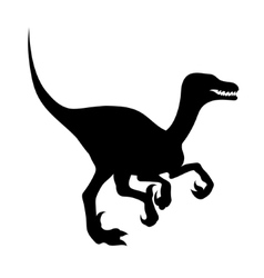 Silhouette of a velociraptor vector image