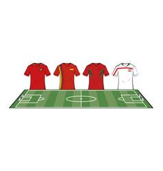 Soccer teams tshirts vector
