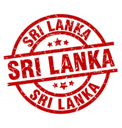 Sri lanka red round grunge stamp vector