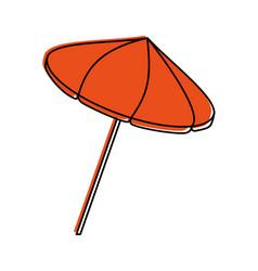 striped parasol icon image vector image