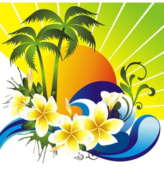 Summer tropical vector