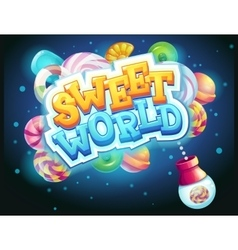 Sweet world GUI game window candy shooter vector