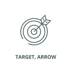 target arrow line icon linear concept vector image