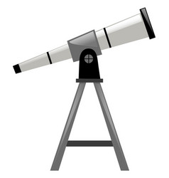 Telescope with triangle stand vector