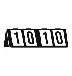 Tennis scoreboard icon simple style vector