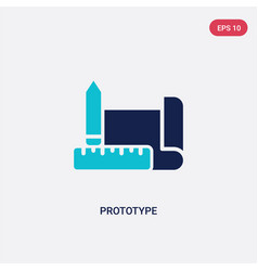 Two color prototype icon from crowdfunding vector