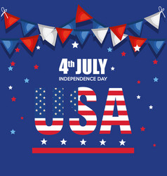 Usa independence day celebration poster vector