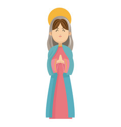 Virgin mary blessed manger christmas charatcer vector