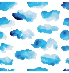 Watercolor clouds seamless pattern for your vector image