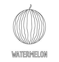 Watermelon icon outline style vector