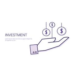 Investment financial deposit money business vector
