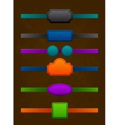 set of strict vintage colorful design labels vector image vector image