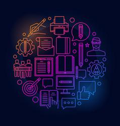 blogging round bright vector image