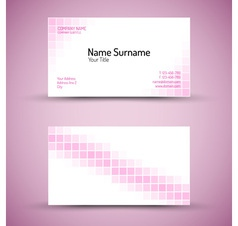 business card squares vector image vector image