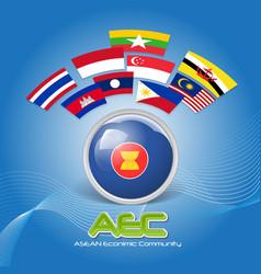 Flag of Asean Economic Community AEC 02 vector image vector image