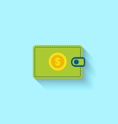 Flat Icon of Wallet vector image vector image